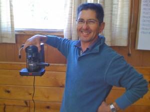 John and his home espresso machine