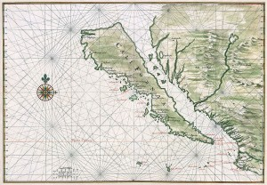 Map of California circa 1650