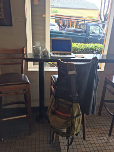My seat at Peets