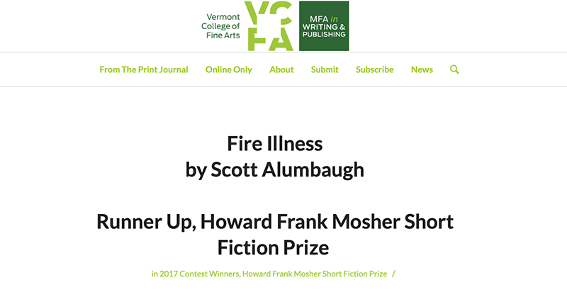 """Fire Illness"" is Named Runner-Up"